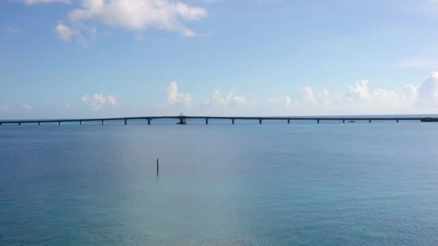 Ikema bridge connecting Miyako island and Ikema island, Okinawa, Japan video