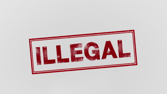 illegal - proibizione video stock e b–roll