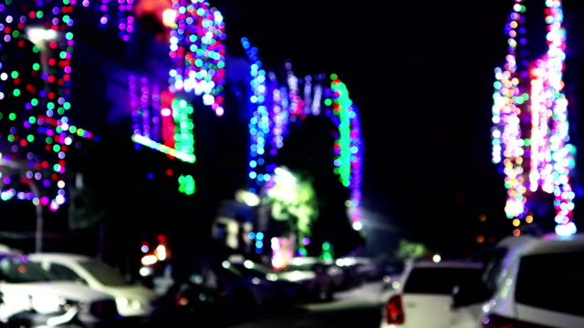 Rua iluminada da cidade no festival de Diwali, India - vídeo