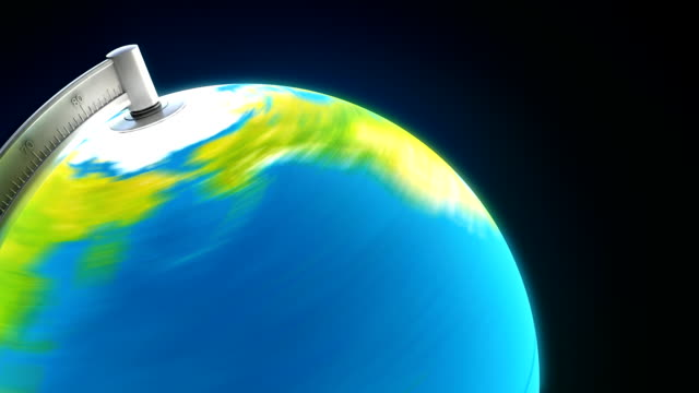 stockvideo's en b-roll-footage met 3d illuminated desktop globe: close up (hd) - bureauglobe