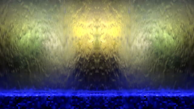 Illuminated Waterfall - abstract background video