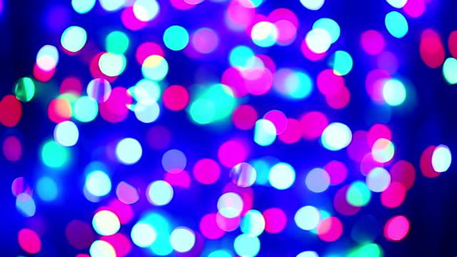 照明の花のデコレーション点滅サークルボケ背景 - 豊富点の映像素材/bロール