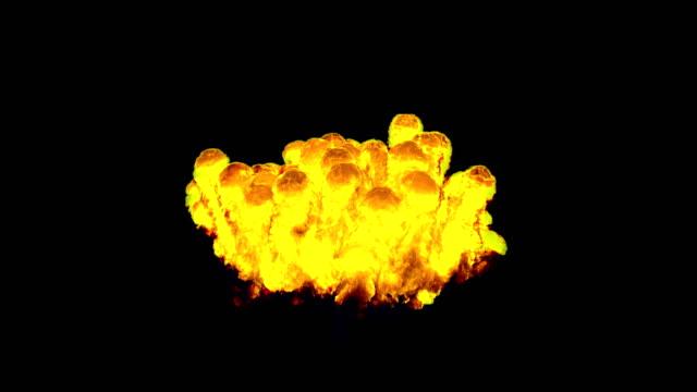 爆発火災雲エネルギーの 3 D イラストレーション ビデオ