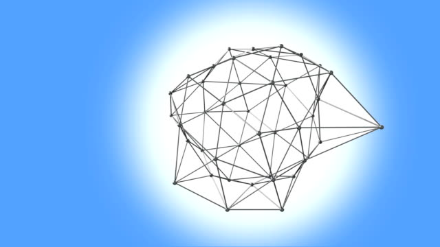 3d illustration av geometriska anslutningen struktur - chain studio bildbanksvideor och videomaterial från bakom kulisserna