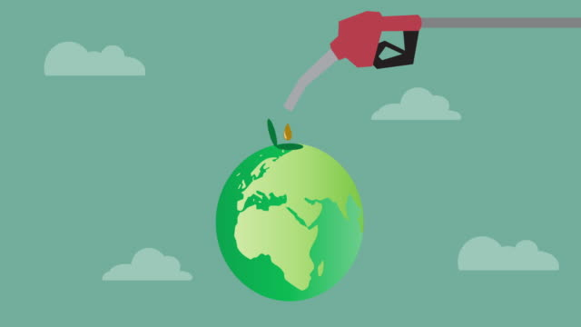 Illustration of oil to the world, Video animation. video
