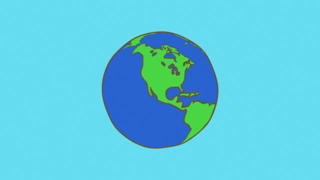 illustration of rotation the earth[loop]