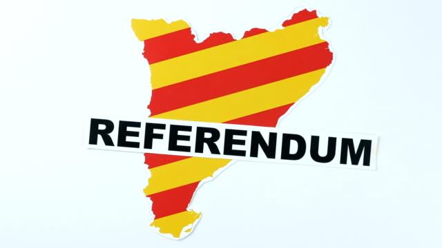 Illustration, referendum in Catalonia 50 fps video