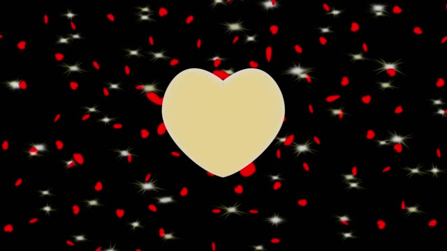 3D illustration - Videos.  Cupid Heart Love Valentine's Day