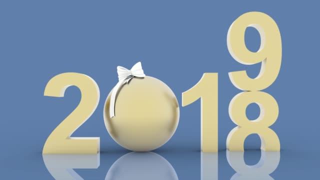vídeos y material grabado en eventos de stock de ilustración 3d - videos. decoración de la navidad de año nuevo 2019 - advent