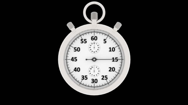 3D illustration - Videos.  Time. Stopwatch. A minute.