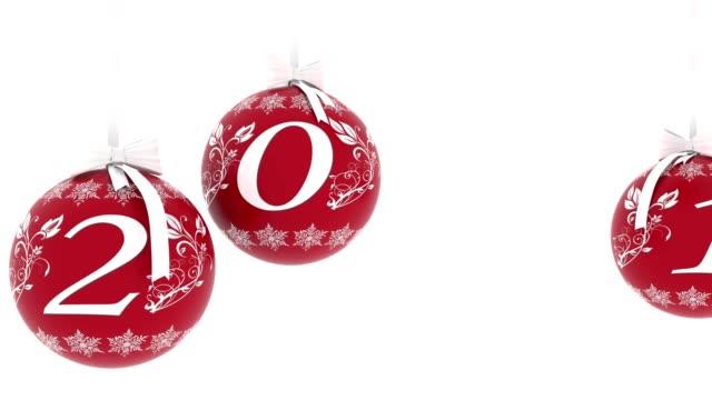 Illustrazione - Video. Capodanno 2018 decorazione Natale video