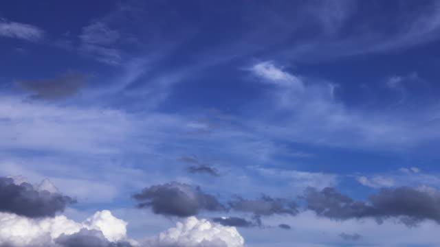 stockvideo's en b-roll-footage met afbeelding van de hemel in wolken verplaatsen - cirrus