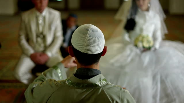 imam preaching in mosque during wedding ceremony video