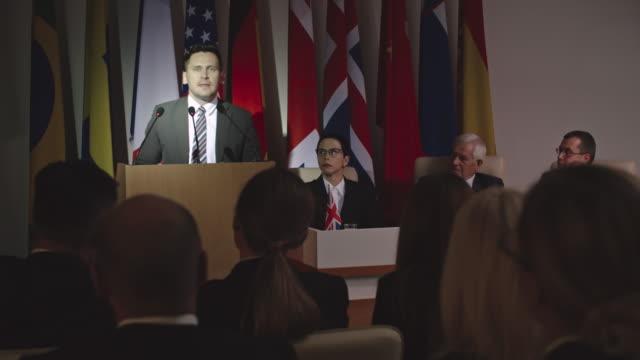 Impactful Speech of Confident Politician video