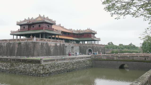 Imperial Royal Palace of Nguyen dynasty in Hue, Vietnam video