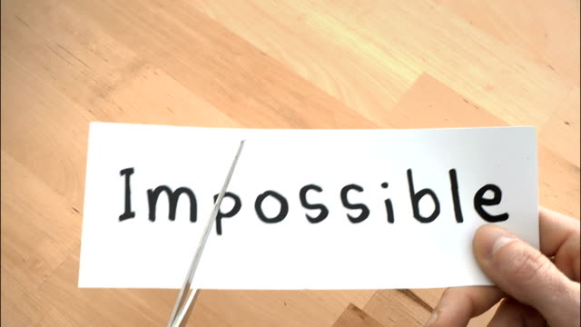 Impossible To Possible By Scissors 4K Video conquering adversity stock videos & royalty-free footage