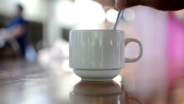 In a cafe coffee. video