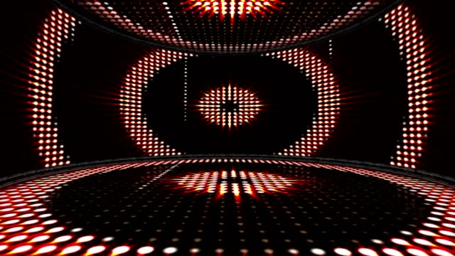 CIRCLES LIGHTS BULB in Monitors and Room, Animation, Rendering, Background, Loop video