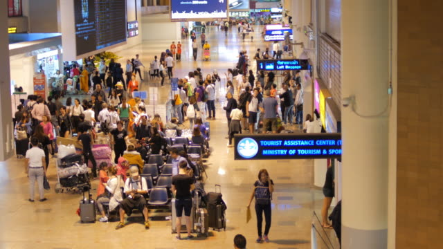 In the airport Terminal at night time video
