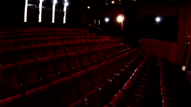 In the empty cinema hall video