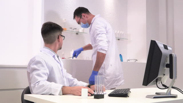 in the laboratory two formaceft test a new device