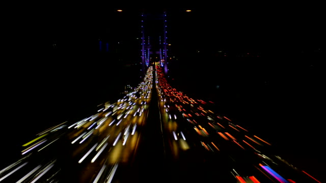 in the night Istanbul traffic