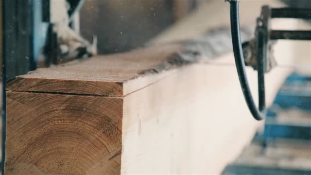 In the woodworking industry produce wood material HD 1920x1080 The machine for cutting of a tree on woodworking production HD 1080p barns stock videos & royalty-free footage