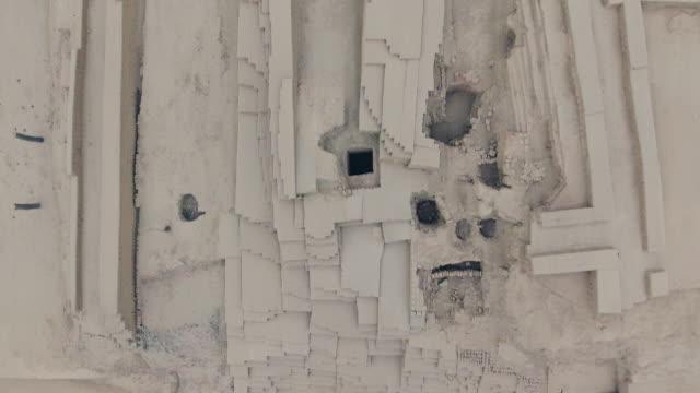 inka-ruinen von drone in lima, peru. - lima stock-videos und b-roll-filmmaterial