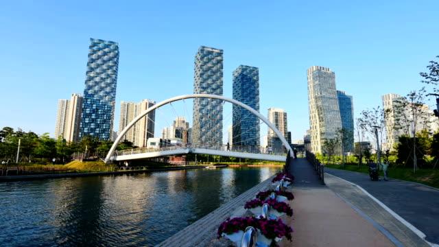 Incheon,Central Park in Songdo International Business District , South Korea Incheon,Central Park in Songdo International Business District , South Korea korea stock videos & royalty-free footage