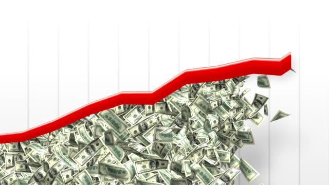 vídeos de stock e filmes b-roll de crescimento de gráfico de rendimentos - riqueza