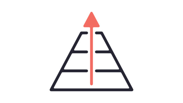 Income Inequality Line Icon Animation with Alpha