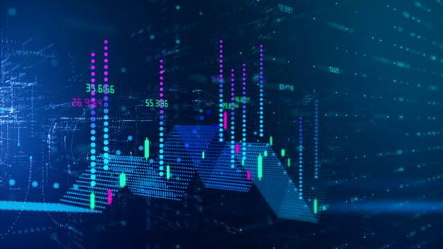 grafico in aumento - competizione video stock e b–roll