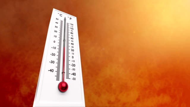 vidéos et rushes de augmentant la température sur le thermomètre. - canicule