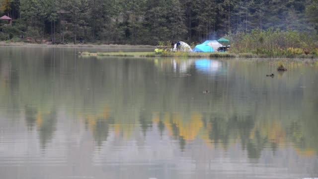 アルトヴィンの野生の生活の中で karagol 湖から信じられないほどの美しい景色、それはすべての年に美しいですし、それは観光 atracts。 アルトヴィン/トルコ05/13/2015 - 自生点の映像素材/bロール
