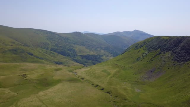 Incredible landscape of green mountains in late summer. Carpathian mountains, Ukraine. video