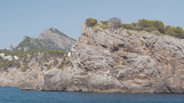 Incredibly beautiful rocky landscapes of the island of Mallorca. landscapes on the balearic islands Incredibly beautiful rocky landscapes of the island of Mallorca. landscapes on the balearic islands in Spain yachting stock videos & royalty-free footage