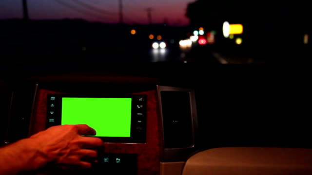 In-dash GPS Green Screen video