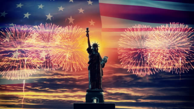 independence day background - giorno dell'indipendenza video stock e b–roll