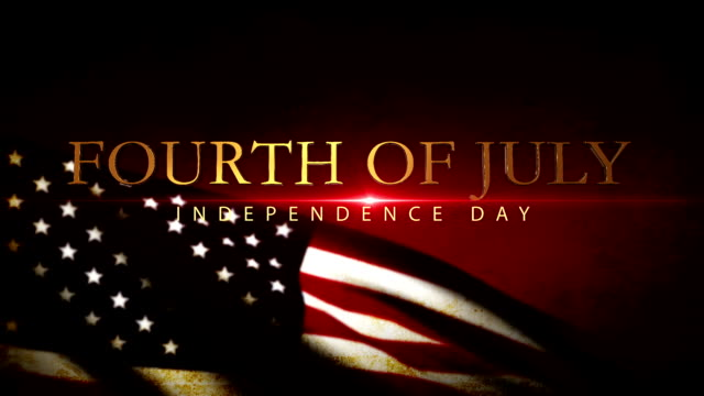 independence day usa flag waving, 4th of july - giorno dell'indipendenza video stock e b–roll