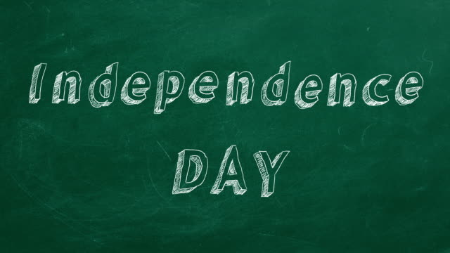 Independence Day Hand drawing and animated text