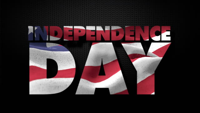 independence day with american flag - independence day stock videos & royalty-free footage