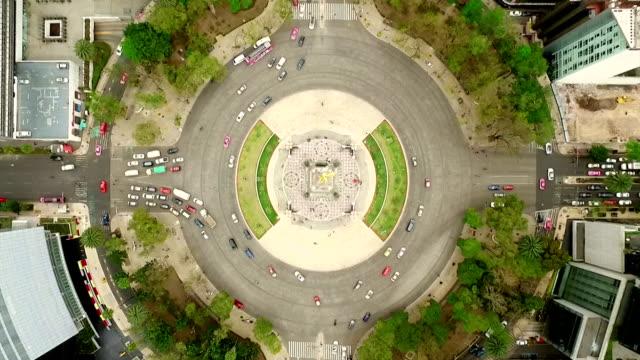 Monumento de la independencia en la Ciudad de México - vídeo