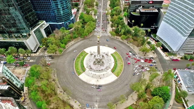 Independence monument in Mexico City Aerial shot of Independence monument in Mexico City independence stock videos & royalty-free footage
