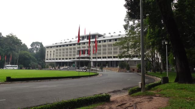 Independence Palace in Ho Chi Minh City in Viet Nam Independence Palace in Ho Chi Minh - Reunification Palace was built in 1962-1966 palace stock videos & royalty-free footage