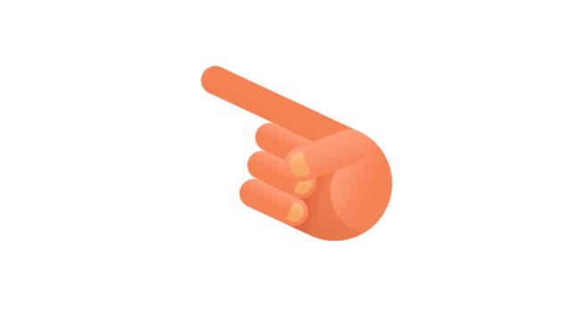 人差し指は、アイコンのセット。インフォ グラフィックのアニメーション。アルファ チャネル - 指点の映像素材/bロール