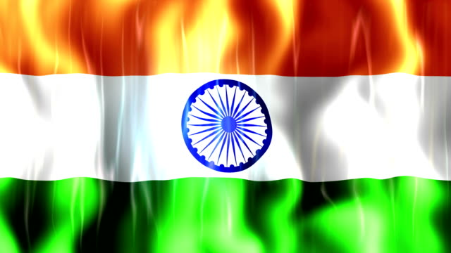 India Flag Animation video