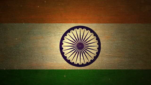 India Flag - Grunge. 4K video