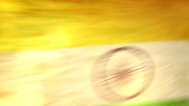 India Flag - Grunge. HD video