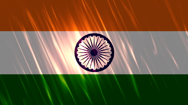 india flag loopable animation - independence day stock videos & royalty-free footage