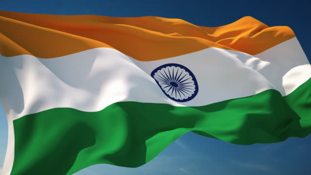 4K India Flag - Loopable video
